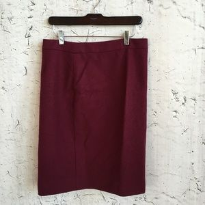 J CREW BURGANDY NO 2 PENCIL WOOL 6
